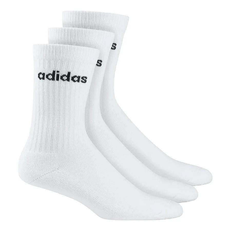 Kit Meia Adidas Crew 3 Pares Unissex 41/43 - Branco