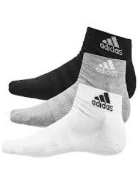 Kit Meia Adidas Cush Ank - Unissex - 41 ao 43