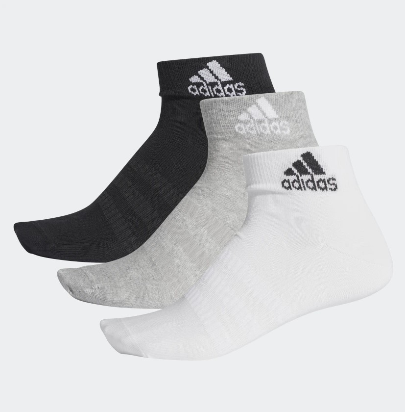 Kit Meia Adidas Light Ank 3 Pares do 41 ao 43 - Unissex