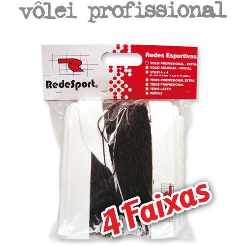 Kit Redesport  Vôlei de Quadra Profissional - Rede e Antenas