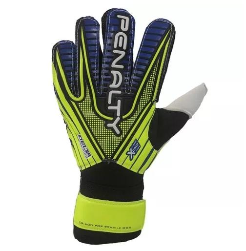 Luva De Goleiro Penalty Delta Training VIII - Amarela/Azul