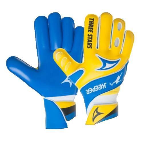 Luva de Goleiro Three Stars Keeper - Juvenil - Amarelo/Azul