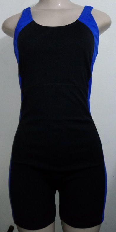 Macaquinho De Natação/Hidroginástica Necks - Preto/Azul