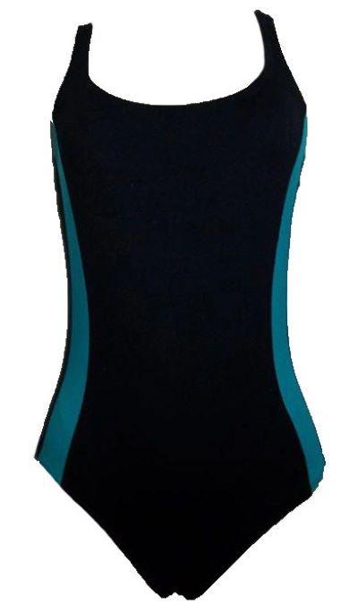 Maiô para Natação/Hidroginástica Necks - Preto/Azul