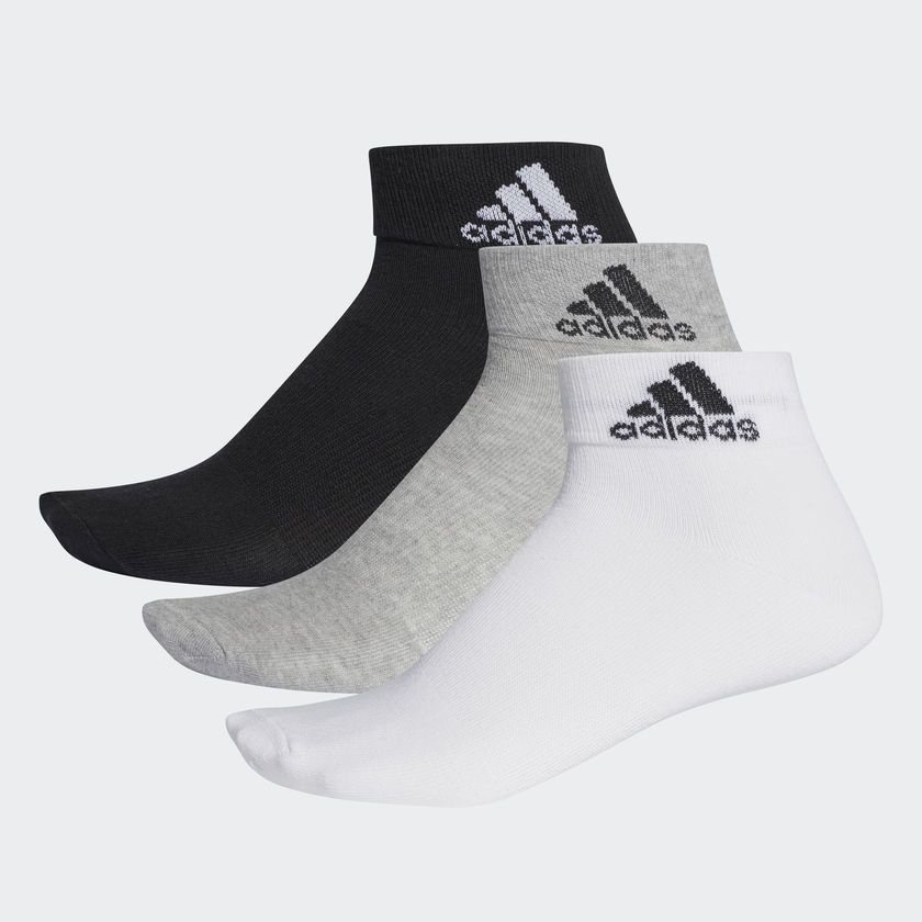 Meia Adidas Ankle Mid Thin Ref. AA2322 - 03 pares Bc-Cz-Pt