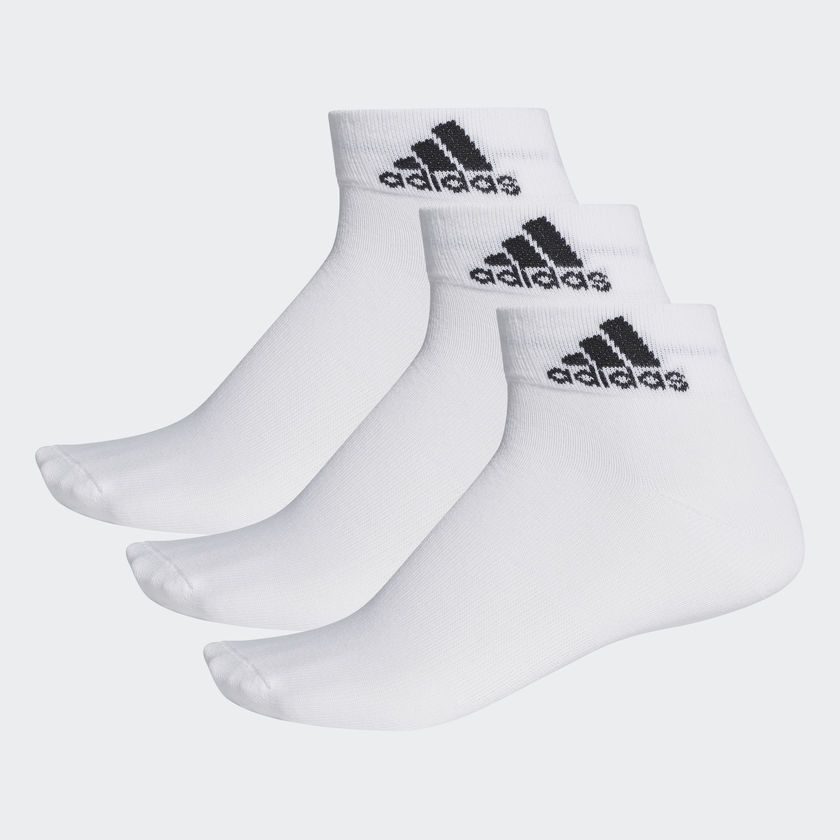 Kit Meia Adidas Ankle Mid Thin - Unissex
