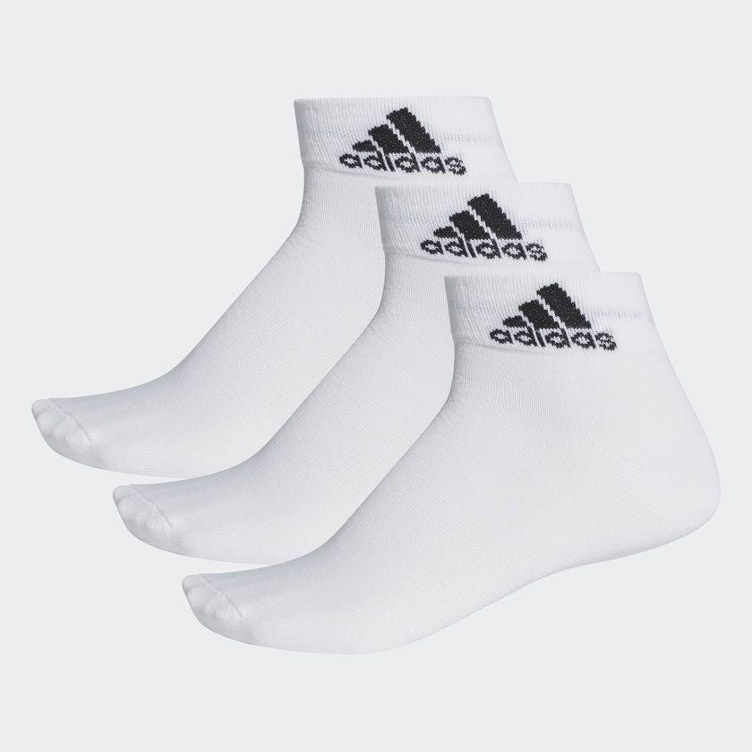 Kit Meia Adidas Ankle Mid Thin - Unissex