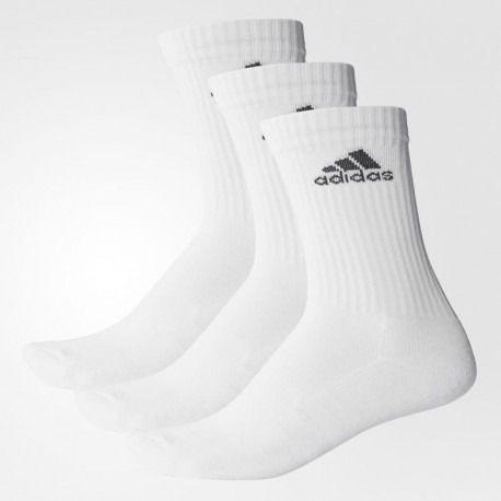 Meia Adidas Crew Cushion 3S Nº 35-38- Branco