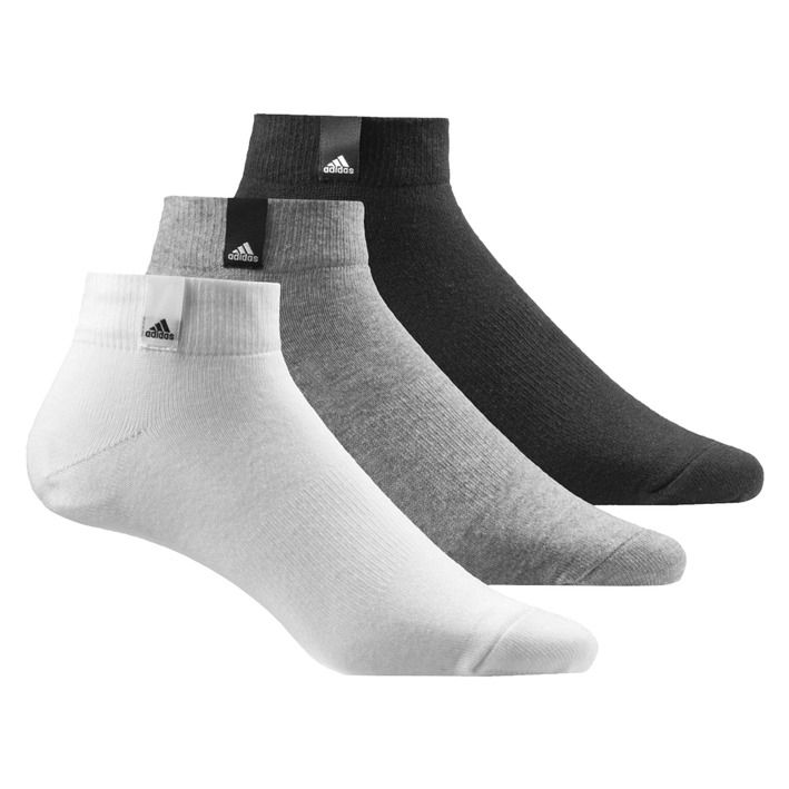 Kit Meia Adidas Label Ankle Low Thin 3p -  Unissex