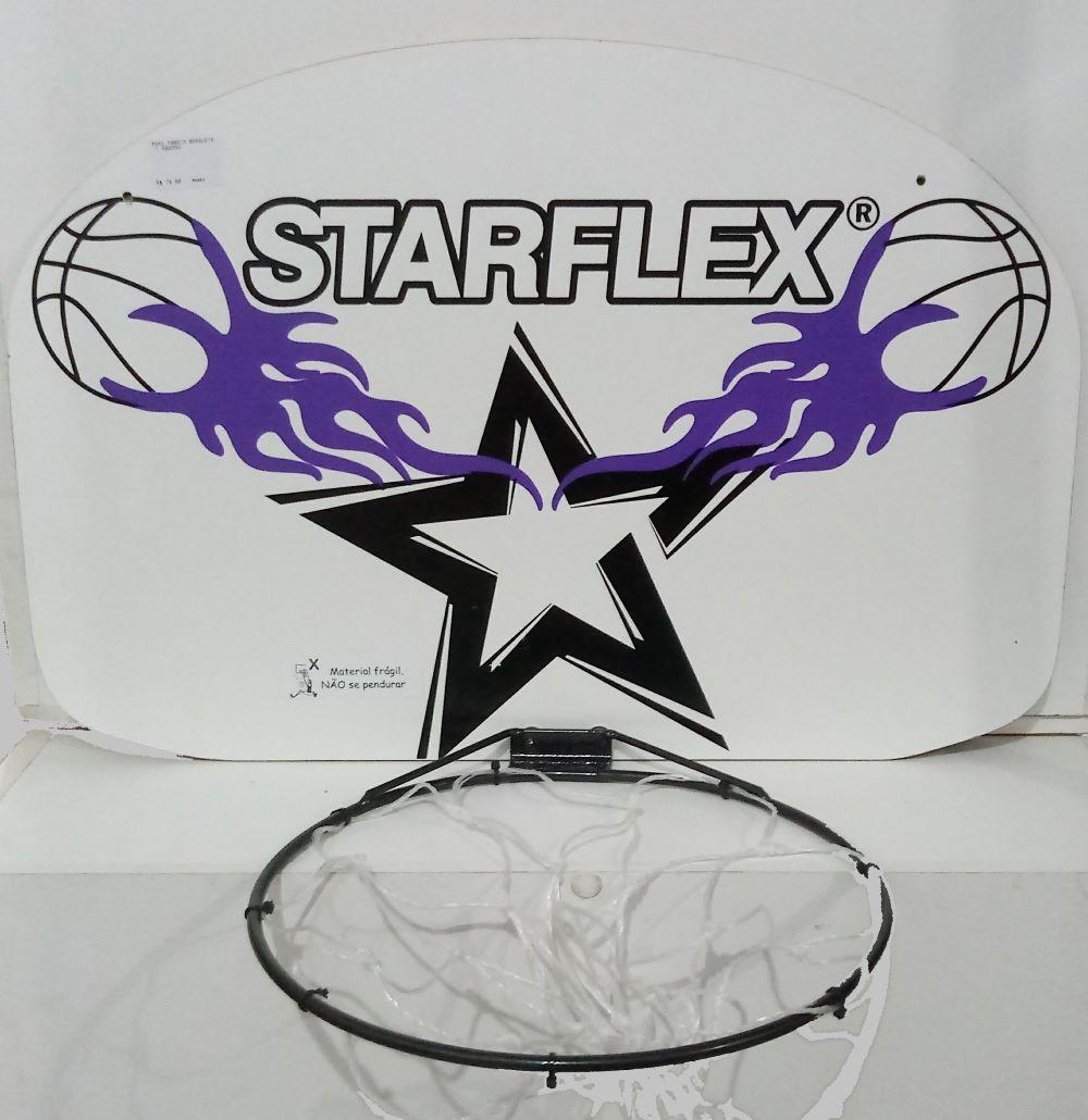 Mini Tabela De Basquete Starflex - Branco e Roxo