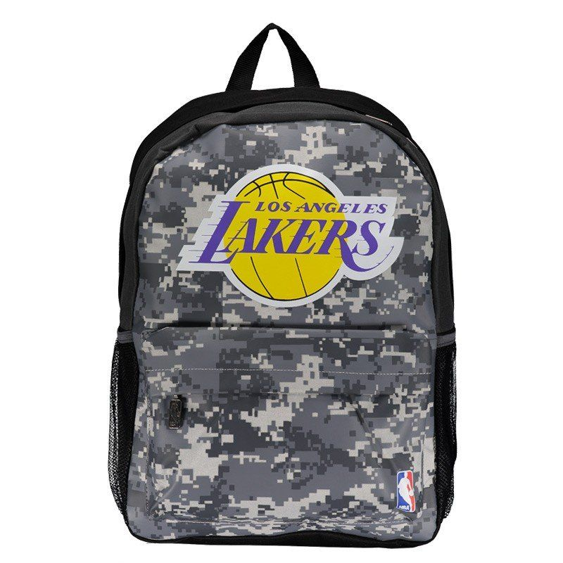 Mochila NBA Lakers Sublimada - Cinza/Preto
