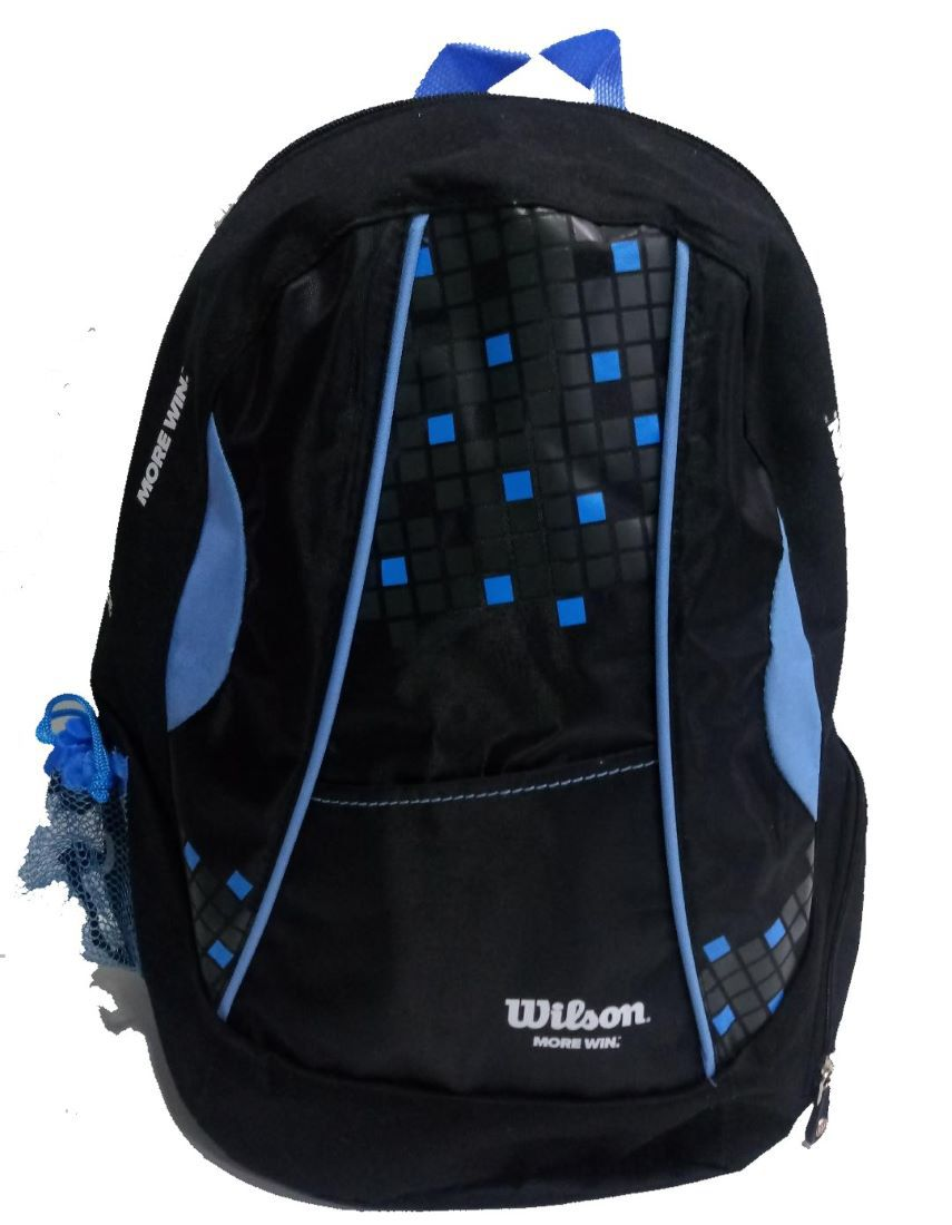 Mochila Wilson Esportiva Unissex- Preto e Azul