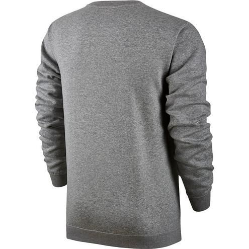 Moletom Nike Nsw Club Fleece Crew Masculino - Cinza