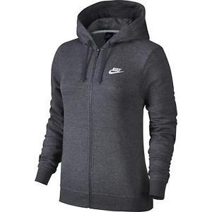 Jaqueta Nike Sportswear Hoodie Feminino - Cinza