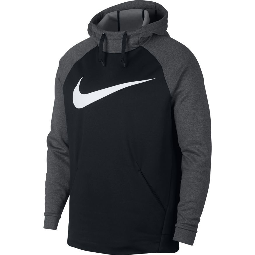 Moletom Nike Therma Swoosh Masculino - Preto/Cinza