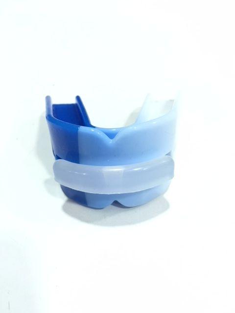Protetor Bucal Starflex Duplo Branco/Azul