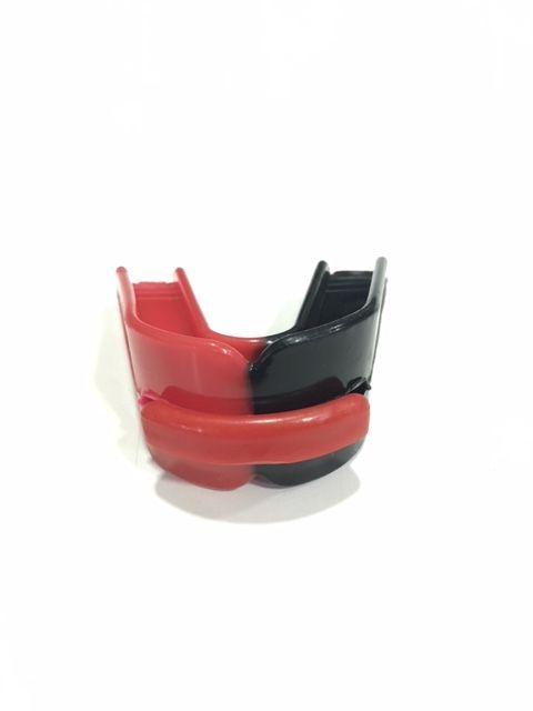 Protetor Bucal Starflex Duplo Preto/Vermelho