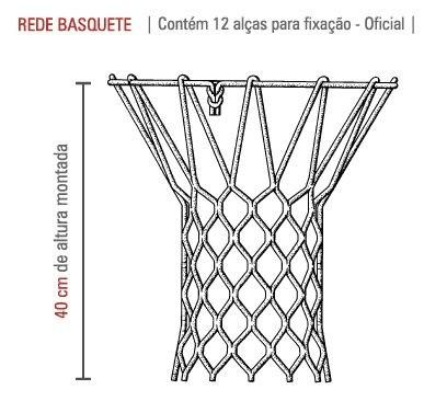 Rede De Basquete Redesport Fio Seda 8,0 mm PES