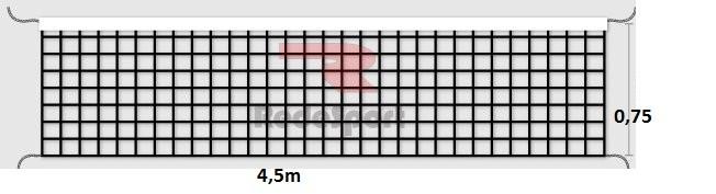Rede Redesport de Vôlei Lazer 1 Faixa 4,5m