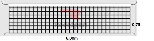 Rede De Vôlei Redesport Lazer 1 Faixa 6m