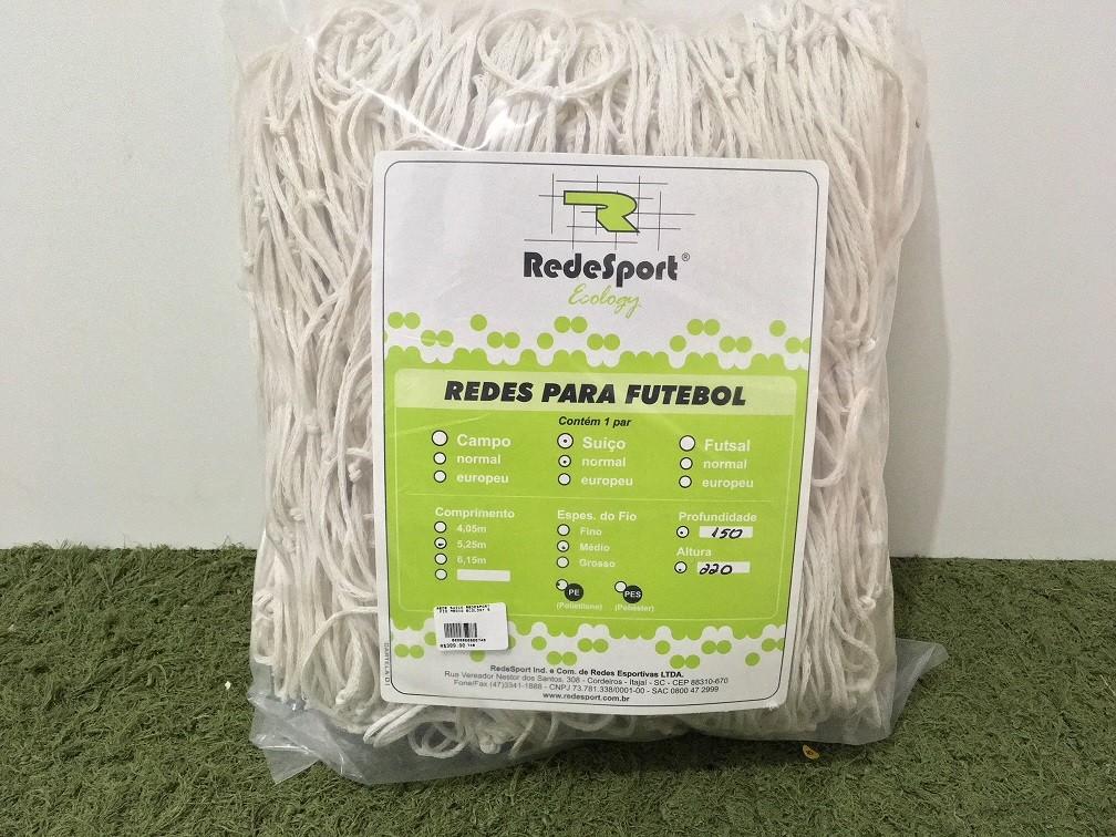 Rede Redesport Futebol Suiço Ecology Fio Médio 5,25 m PE