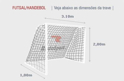 Rede Redesport De Futsal Fio Seda Médio 3,0 PES