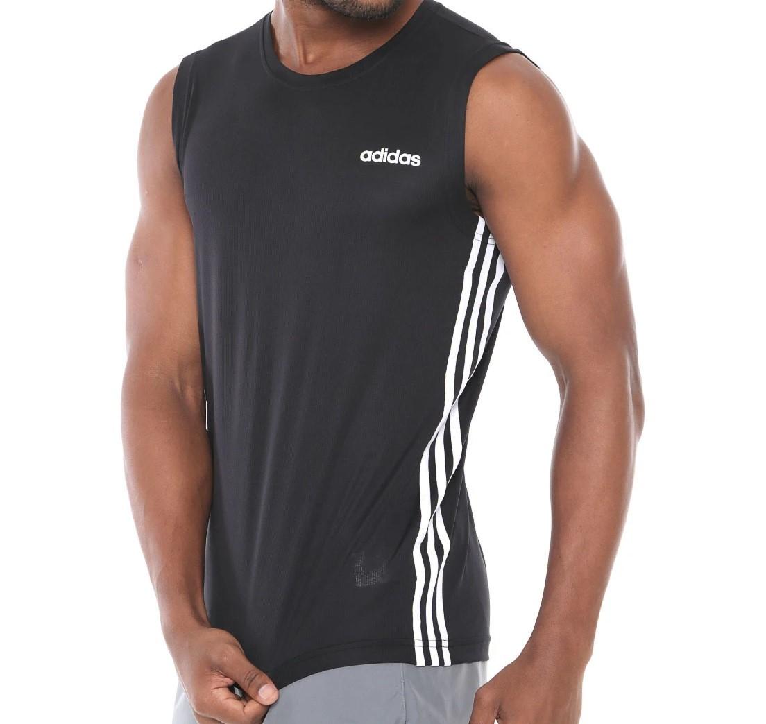 Regata Adidas  D2M 3S Masculina - Preta