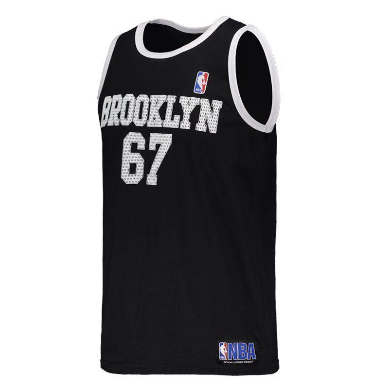 Regata Brooklyn Retro NBA - Preto/Branco