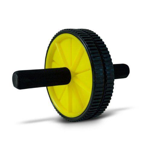 Roda de Exercício AB Wheel - Amarelo/Preto