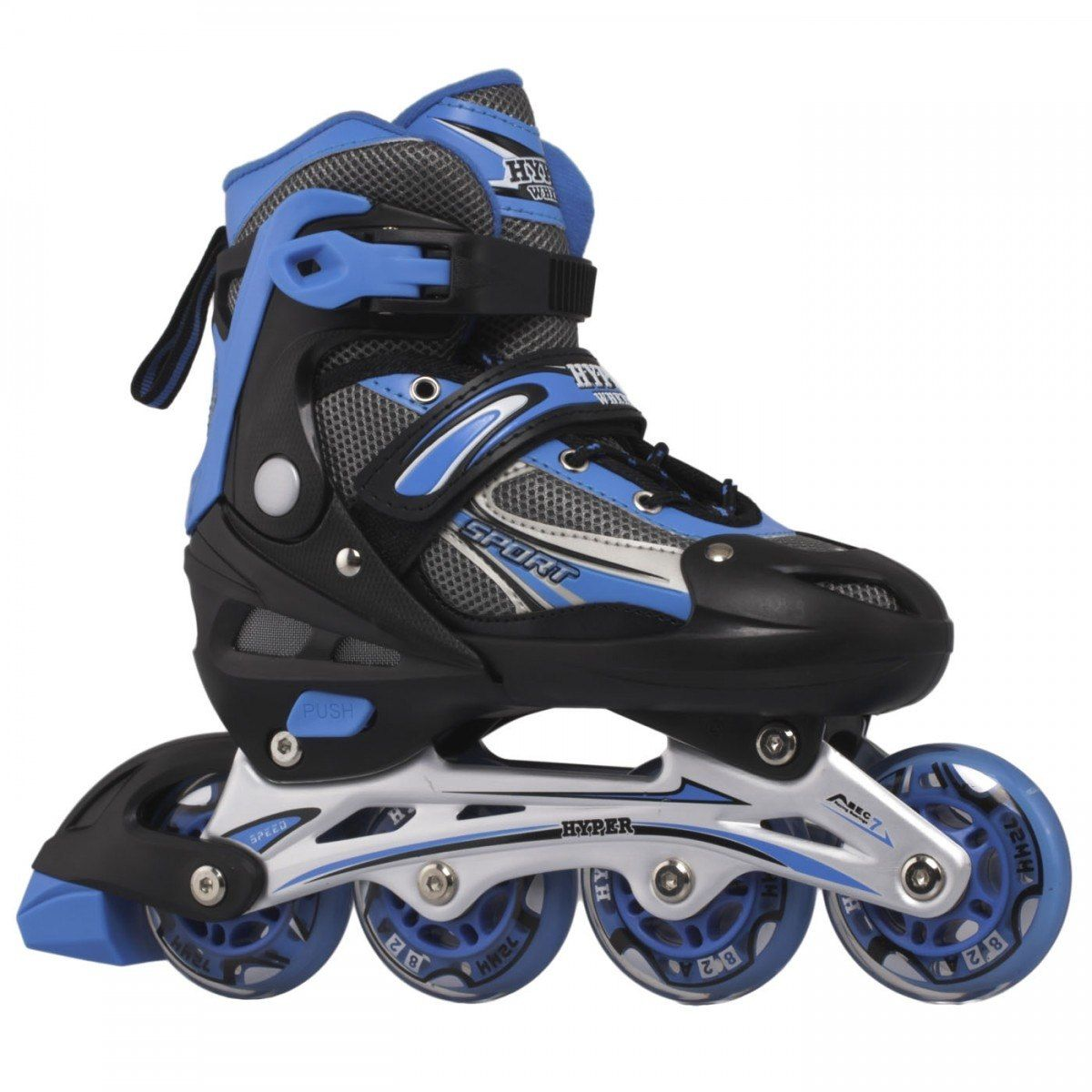 Roller Hyper Sports Regulável 72mm - Azul - 34 ao 37