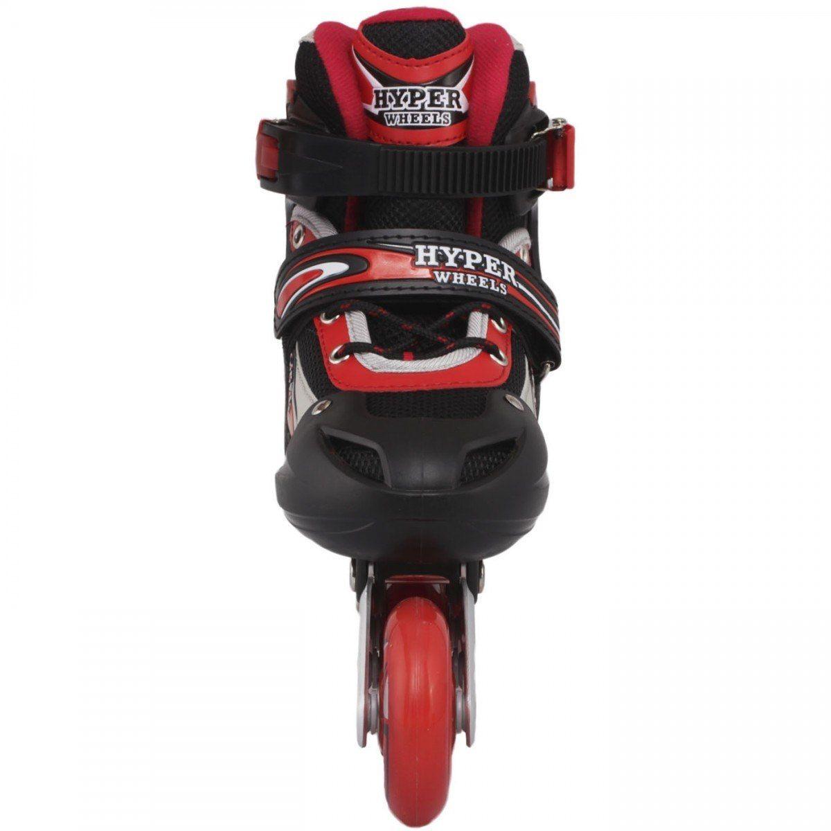 Roller Hyper Sports Regulável 72mm - Vermelho/Preto - 34 ao 37