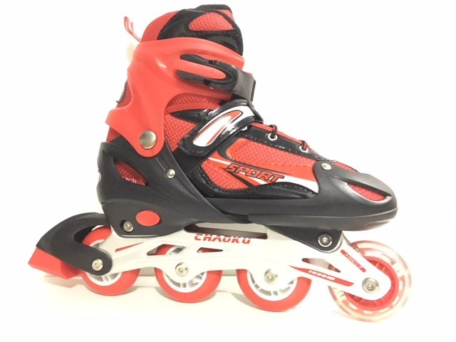 Roller Inline Starflex Sports Regulável - Vermelho - 39 ao 42