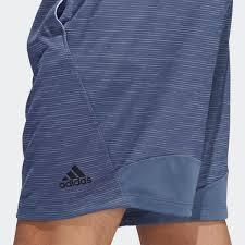 Shorts Listrado Mesclado Adidas 4k - Azul