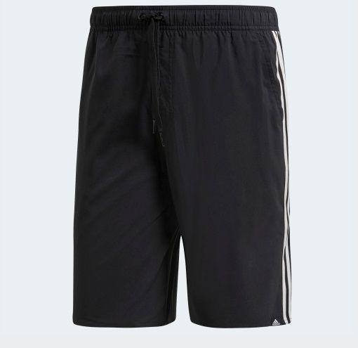 Shorts Natação Adidas 3-Stripes - Masculino - Preto e Branco