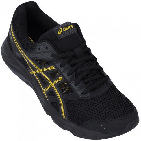 Tênis Asics Gel Contend 5A Masculino - Preto/Amarelo