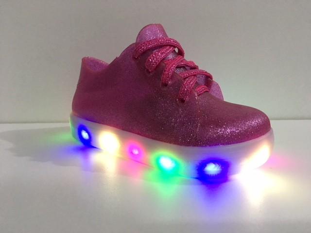 Tênis Luelua Led Infantil - Pink/prince 8507