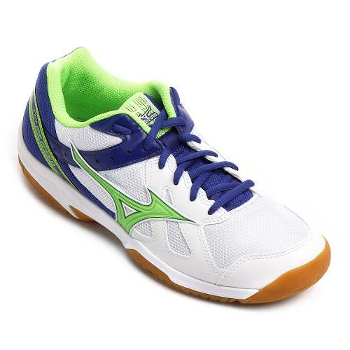 Tênis Mizuno Cyclone Speed Indoor Unissex - Branco/Verde