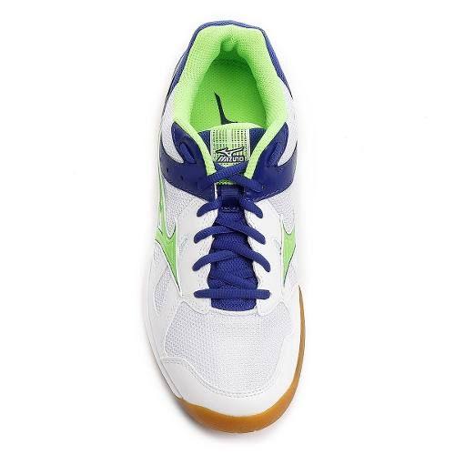 Tênis Mizuno Cyclone Speed Indoor Unissex - Branco/Verde