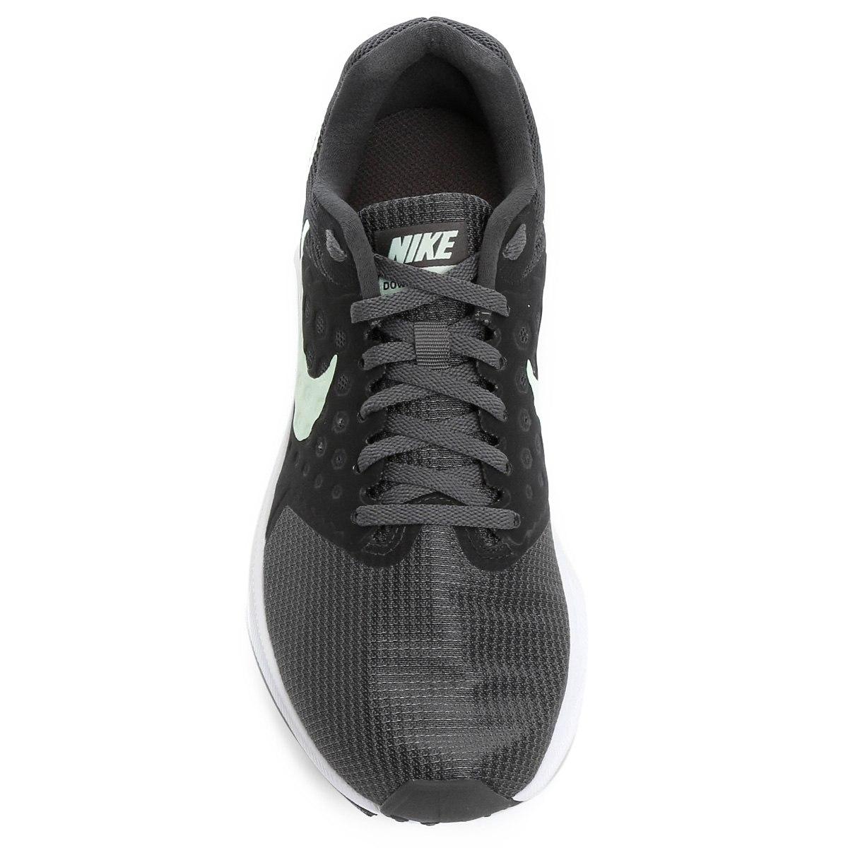 Tênis Nike Downshifter 7 Feminino - Chumbo/Verde