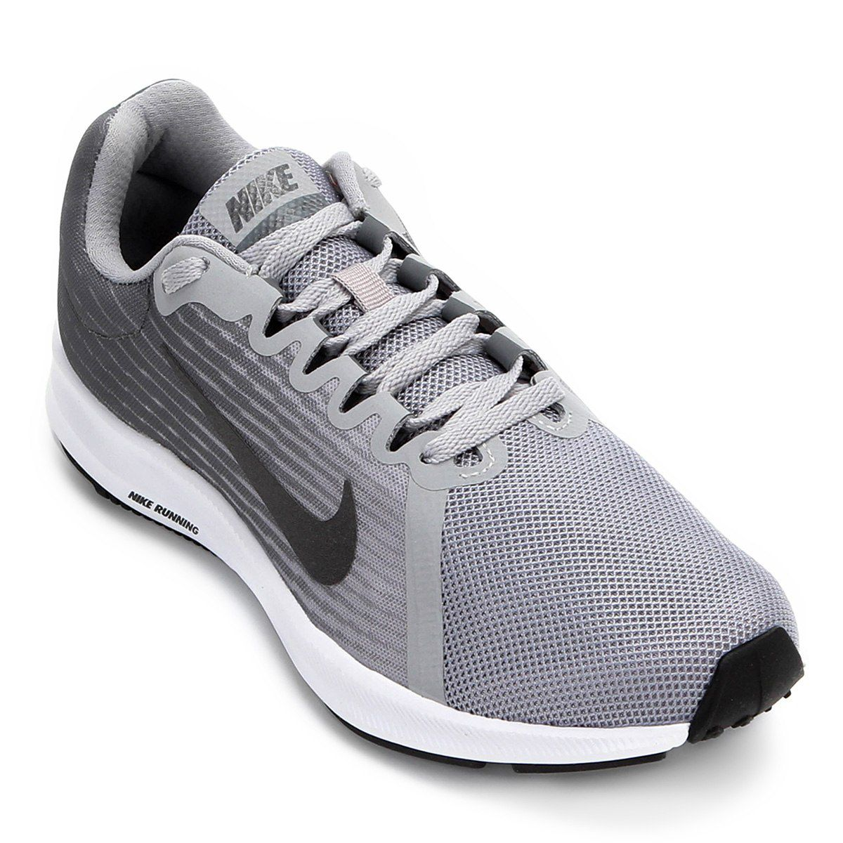 Tênis Nike Downshifter 8 Feminino - Cinza/Preto