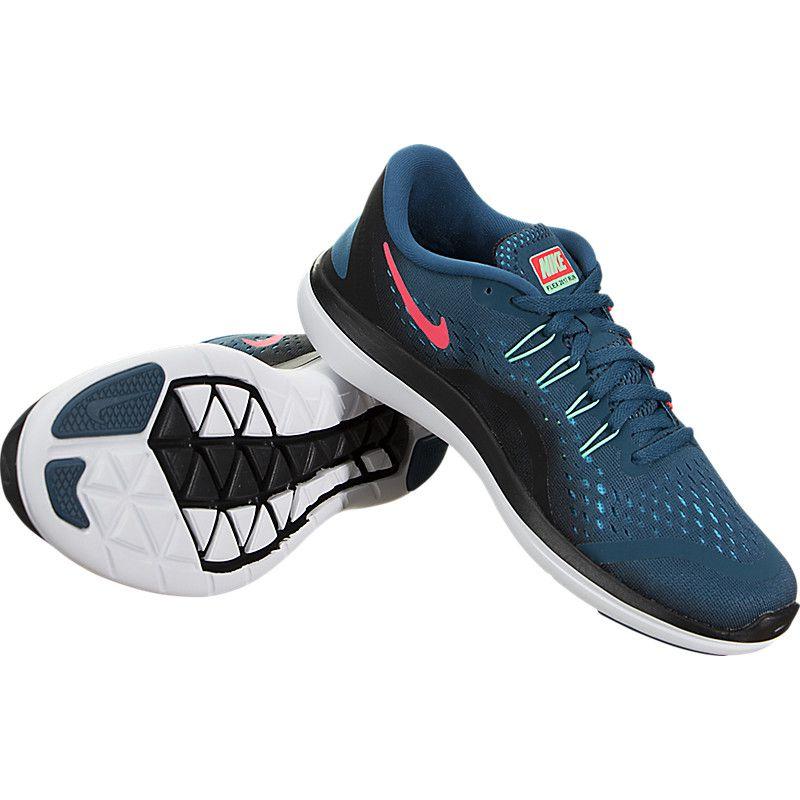 Tênis Nike Flex 2017 RN Feminino - Marinho/Verde