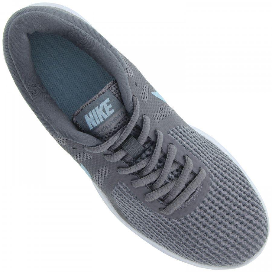 Tênis Nike Revolution 4 Feminino - Cinza