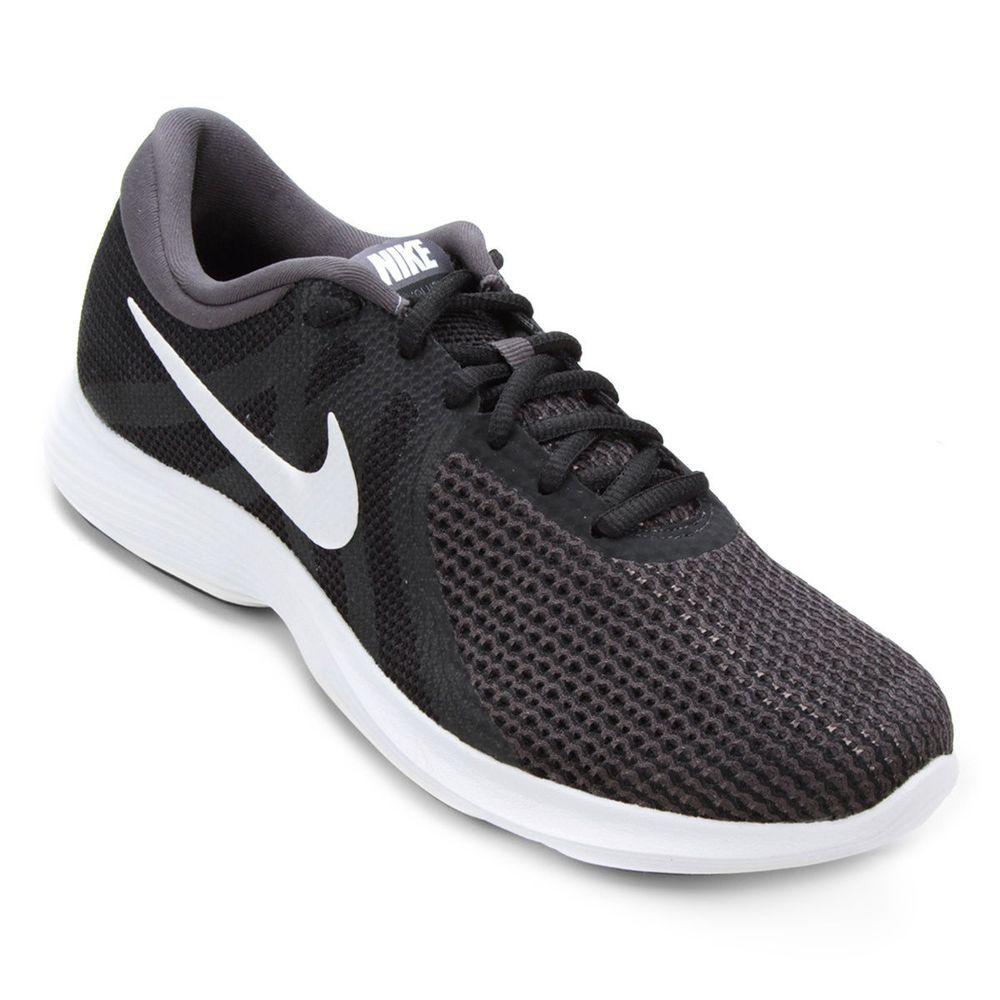 Tênis Nike Revolution 4 Feminino - Preto e Branco