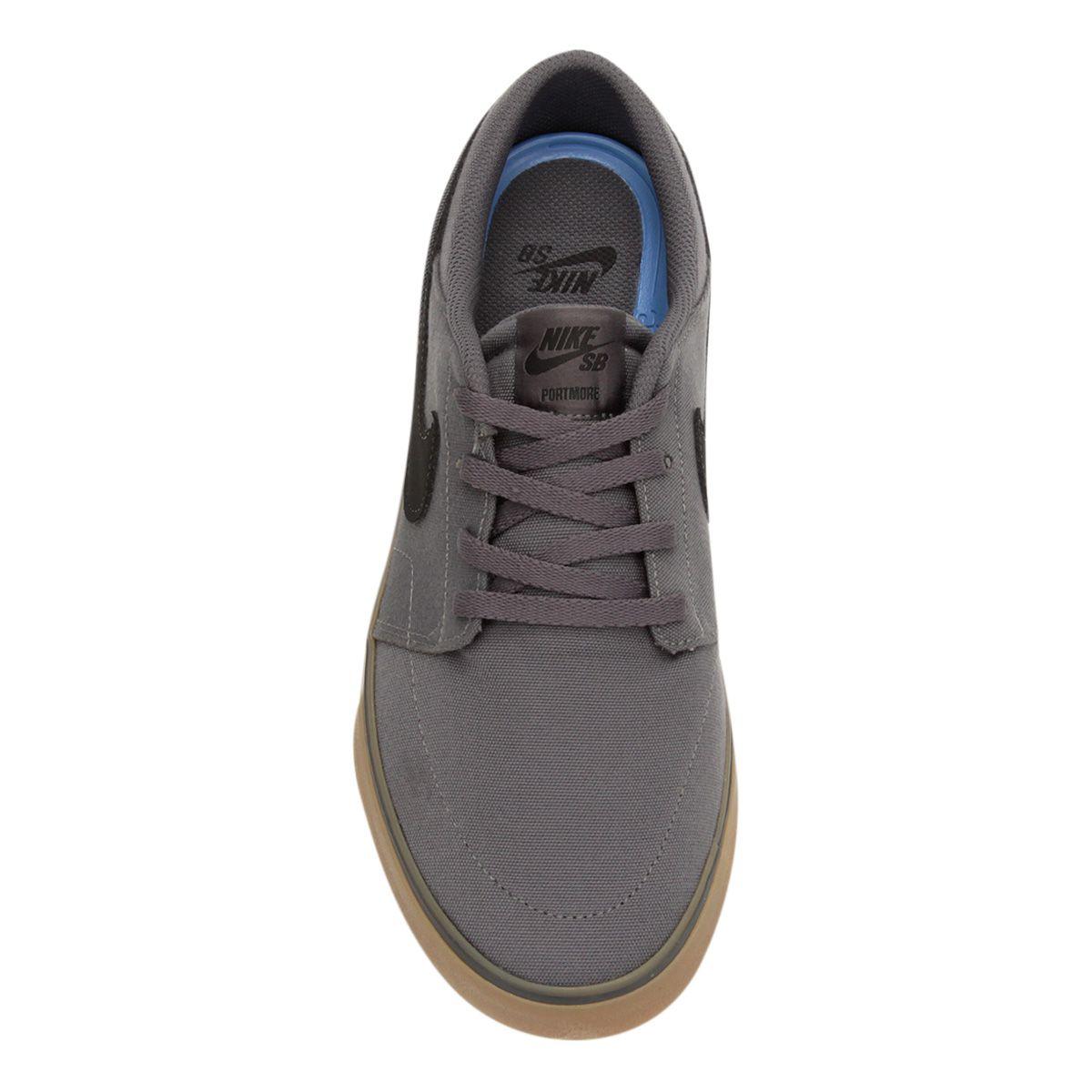 Tênis Nike SB Portmore II Solar Cnvs Masculino - Cinza