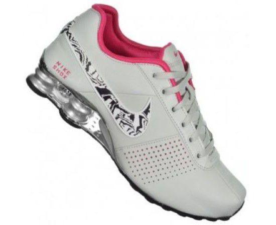 Tênis Nike Shox Deliver Feminino - Cinza e Rosa