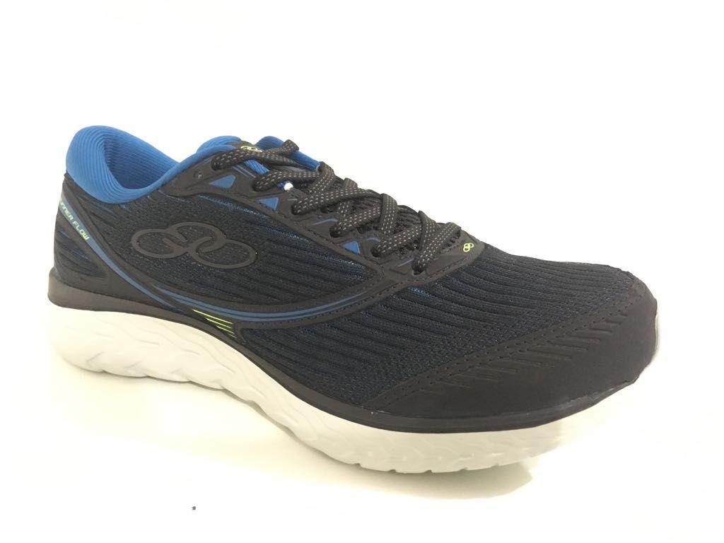 Tênis Olympikus Runner Flow Masculino - Preto/Azul