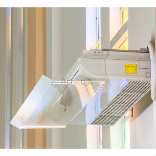 Defletor De Ar Condicionado Split Piso Teto Acrilico 107cm, Direcionador de Ar