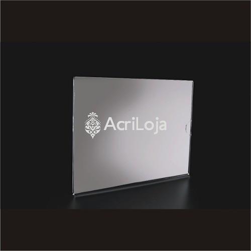Display Acrilico A De Parede Para Folha A4, Dobrado Horizontal