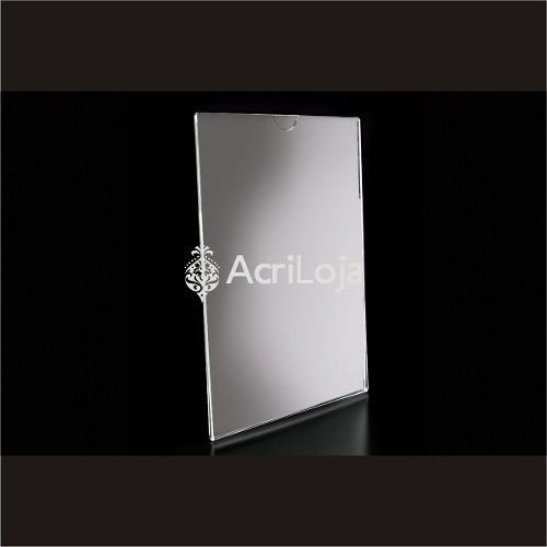 Display Acrilico De Parede Para Folha A4, Dobrado Vertical