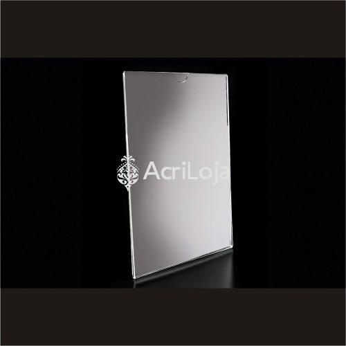 Display Acrilico De Parede Para Folha A5, Dobrado Vertical